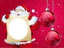 Père Noël avec un parchemin