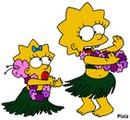 simpson maggie et Lisa.