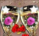 verres d'amour et de joie