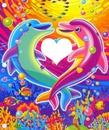 Rainbow Dolphin heart frame
