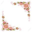 cadre fleurs rose