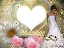 cadre mariage  coeur
