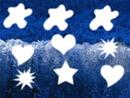 tache cœur étoile soleil