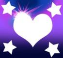 Coração e  estrelas