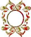 Marco elegante ornamentos