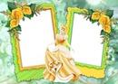 Cendrillon avec sa robe jaune
