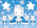 hello kitty sous la neige
