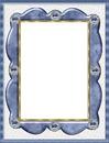 cadre bleu et dorure