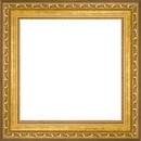 square photo gold victorian frame