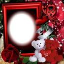 Cadre rouge avec des oursons