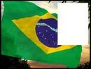 Brazil flag flying