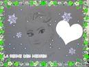 la reine des neiges avec coeur dessin fait par GINO GIBILARO