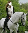 visage sur cheval