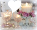 Bougies avec roses