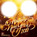 Happy New Year with two picture