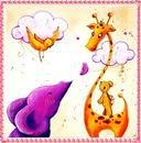 éléphant girafe