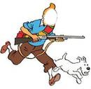 Tintin et milou à la chasse