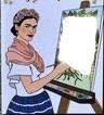 renewilly frida pintando