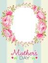 Cc circulo de rosas para la madre
