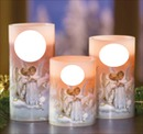 3 ANGEL CANDLES