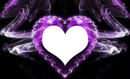 purple neon glow heart-hdh 1