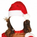 chica con gorro de navidad