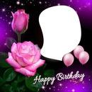 imagen de cumpleaños con rosa