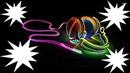 casque audio multicolore fluorescent 4 photos