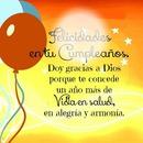 Felicidades y bendiciones en tu cumpleaños