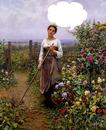 belle jardinière rêveuse