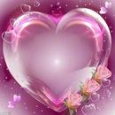Herz mit drei Rosen