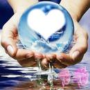 cadre coeur dans une boule