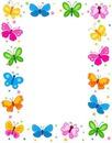 1 cadre papillons de couleurs 1 photo