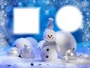boule de neige bleue