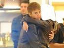 hug with justin