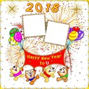 2 photos Bonne Année 2018 iena