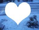 coeur en neigé