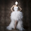 robe mariage plume