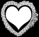 Cadre cœur blanc