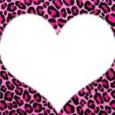 Jolie coeur sur fond leopard