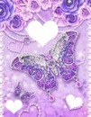 Flower and purple butterfly