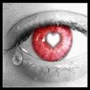 oeuil rouge coeur