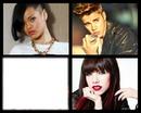 Rihanna, Justin Bieber, Carly Rae Jepsen.