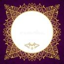 purple gold frame