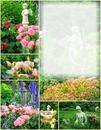 Cadre avec roses et anges
