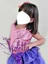 Sua face na fantasia de Violetta