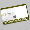 Miss Model of the World Card