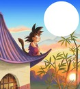 songoku regarde la pleine lune