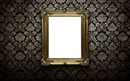 black frame gold wall