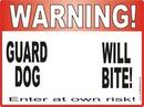 Warning Dog Bite